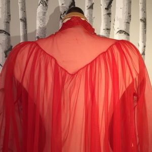 Vintage Red Shear Night OverCoat